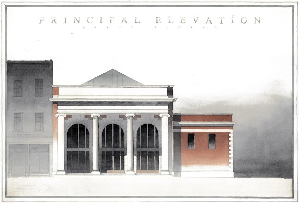 Rail Station. 2009. Spring Senior Studio (Christopher C. Miller, Ph.D). Brian Mork.