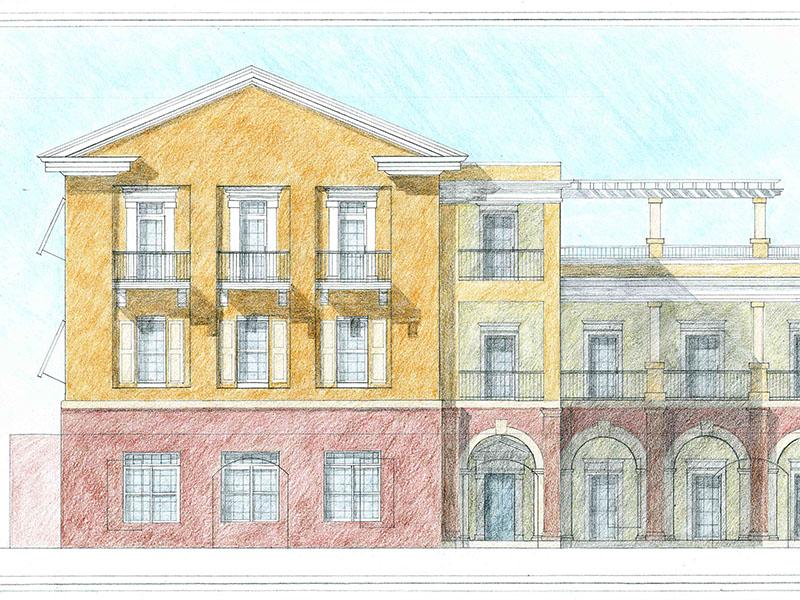 Charleston.  Architecture School.  Elliot Ave at Bedons Alley.  Rachel Peterson. 2016.