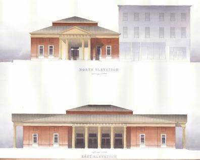 Elgin Railway Station. Elgin, IL. 2008. Aaron Holverson. Senior Architecture Studio. Christopher C. Miller, PhD.